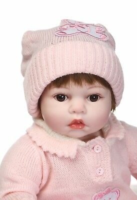 $ CDN83.47 • Buy Reborn Baby Dolls Vinyl Silicone Newborn Girl Handmade 20'' Soft Cloth Body Pink