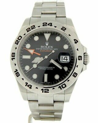 $ CDN10204.60 • Buy Rolex Explorer II Mens Stainless Steel Watch 42mm Orange Hand Black Dial 216570