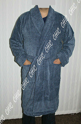 M & S Mens Supersoft Velour Luxury Pure Cotton  Bath Robe Dressing Gown RRP £59 • 21.99£