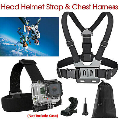 AU12.99 • Buy GoPro 3+ 4 5 6 7 8 Accessories Head Helmet Strap Chest Harness Mount Chesty AU