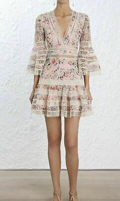 Zimmermann Cotton Lovelorn Floral Flutter Dress Size 2 = US 6 Clearance • 249$