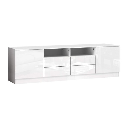 AU176.38 • Buy Artiss 180cm TV Cabinet Stand Entertainment Unit High Gloss Furniture 4 Storage