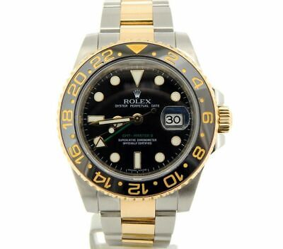 $ CDN16207.78 • Buy Rolex GMT-Master II Stainless Steel 18K Yellow Gold Watch Black Ceramic 116713