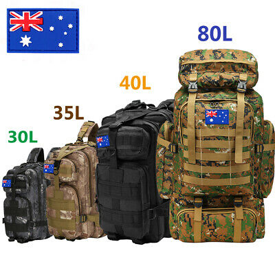 AU39.99 • Buy 30L/35L/40L/70L/80L Military Tactical Backpack Rucksack Camping Hiking Trekk Bag