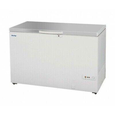 1.3m Commercial Chest Freezer Stainless Steel Lid Restaurant Catering 400L F48S • 629.99£