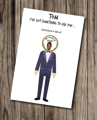 £4 • Buy WILL YOU BE MY USHER Card SCRATCH Head FUNNY Humour WEDDING Card
