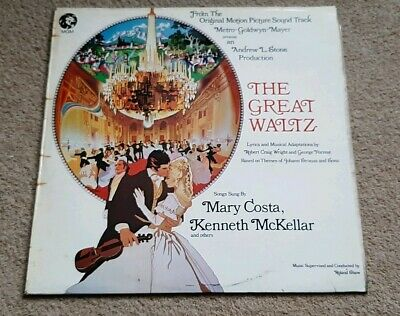 The Great Waltz Soundtrack Vinyl Lp - Mary Costa - Strauss - Roland Shaw - Mgm • 12.99£