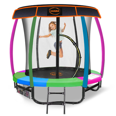 AU594.36 • Buy Kahuna Trampoline 6ft With Basketball Set - Rainbow