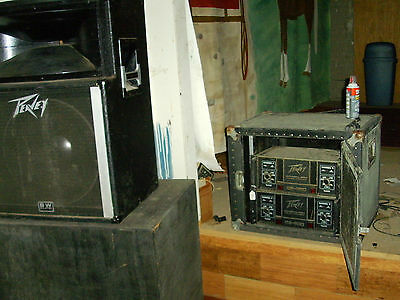 2 Vintage Peavey SP 2 Speakers & 2 PA Amps In Cabinet. Pick Up Clarksville, AR,  • 999$