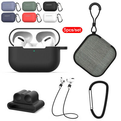 AU6.71 • Buy 5in1 Protective Cover Skin Accessories For Apple AirPods Pro 2019 Charging Case