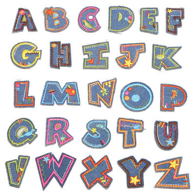 £1.95 • Buy Alphabet Letters Embroidered Iron On Patch Fabric Crafts Fabric DIY Decoration