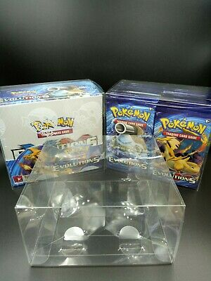 AU13.50 • Buy Pokemon Booster Box Plastic Protector Case Improved Fitment WOTC Sun And Moon