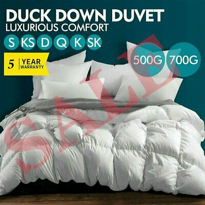 AU37.79 • Buy SALE! Last 3 Days ! All Size Duck Down Goose Quilt Doona Duvet Summer Winter