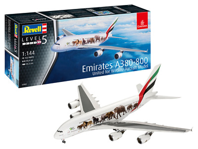 Revell 03882 Airbus A380-800 Emirates Wild Life 1:144 Scale Kit • 30.29£
