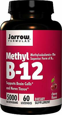 Jarrow Formulas Methylcobalamin (Methyl B12) Supports Brain Cells 5000 Mcg 60cts • 14.35£