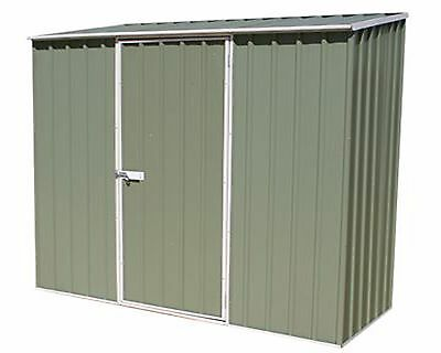 Metal Outdoor Garden Shed 7'5x2'7 Storage Store Container Pent Roof 7ft 2ft • 249.99£