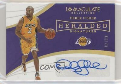 2018 Panini Immaculate Collection Heralded Signatures Gold/10 Derek Fisher Auto • 29.29$