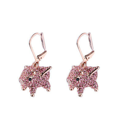 $ CDN25.51 • Buy Kate Spade Imagination Pig Rose Gold Crystal Drop Earrings On Card W/ Gift Box