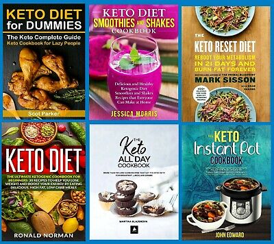 $17.99 • Buy #2 LOT 42 Keto Diet Cookbooks PD F Bundle On DVD Instant Pot Fat Bombs Low Carb+