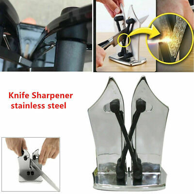 Professional Knife Sharpener Function Stainless Kitchen Grinder Sharpening Tools • 9.29$