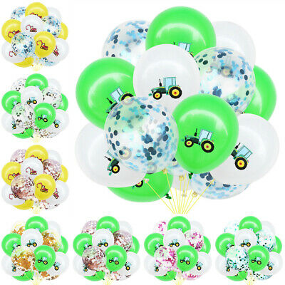 AU7.35 • Buy Latex Children Day Balloons Birthday Party Sequin Bunting Excavator Tractor