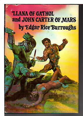 Edgar Rice Burroughs LLANA OF CATHOL & JOHN CARTER OF MARS Illustrated 1st Ed • 25$
