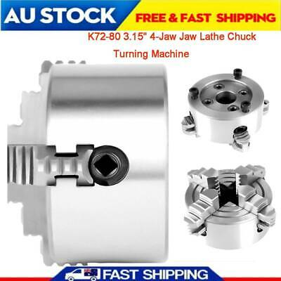 AU68.59 • Buy 80mm Metal CNC Lathe Chuck 100mm4-Jaw Independent & Reversible Jaw 3'' New