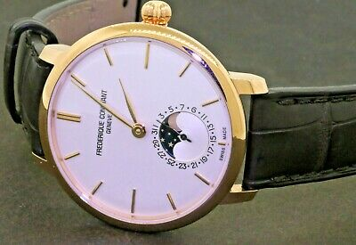 Frederique Constant Moonphase Rose Gold Plated Automatic Men's Watch W/ B&P • 1,499$