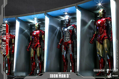 $ CDN679.95 • Buy Hot Toys Iron Man 3 1/6 Scale HALL OF ARMOR Diorama Set Of 4 DS001B 904264 NEW