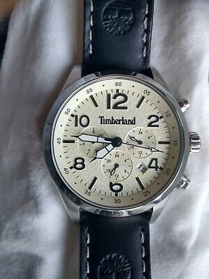 Timberland Mens Multi Dial Quartz Watch With Leather Strap 15249JS/07 • 55£