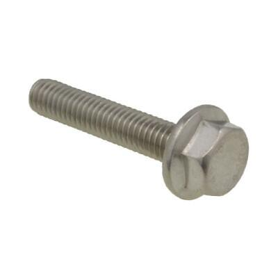 AU8 • Buy Qty 2 Hex Flange Bolt M8 (8mm) X 30mm Stainless A2-70 G304 Serrated Screw