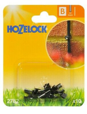10 X Hozelock 2782 Micro Pipe Hose Clip 4mm Micro Irrigation Automatic Watering • 5.45£