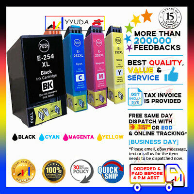 AU21.15 • Buy 10 X NON-OEM 252 252XL 254XL Ink For Epson WorkForce WF-7725, WF-7710, WF-7720