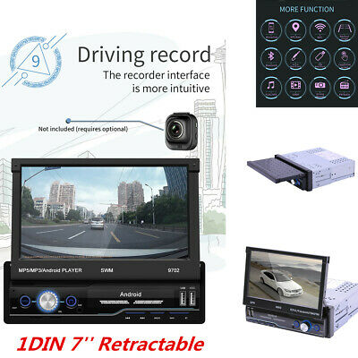 AU181.85 • Buy 1DIN 7'' Retractable Stereo Radio Bluetooth GPS MP5 Player For Car Android 8.1