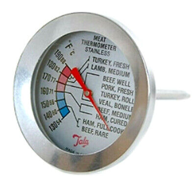 £7.99 • Buy Meat Thermometer Stainless Steel Case ºC & ºF Dial By Tala