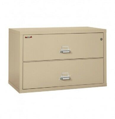 FireKing 2-Drawer 44  Wide 1-Hour Rated Lateral Fireproof WLOCK&KEY Freight • 299$