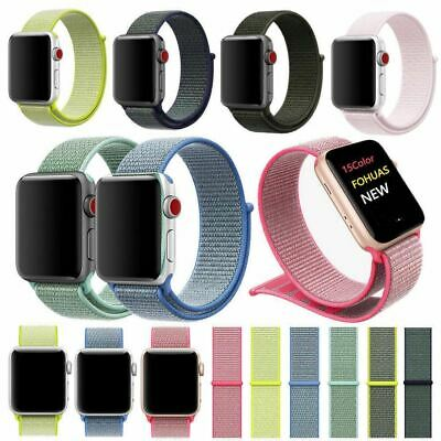 $ CDN4.40 • Buy For Apple Watch Band Nylon Sport Loop IWatch Strap Series 5 4 3 2 38/42/40/44mm