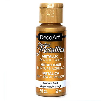 Deco Art Americana Acrylic Metallic Paint, Glorious Gold • 9.16£