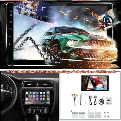$141.69 • Buy 9'' Multimedia MP5 Touch Screen Player Radio Car Stereo FM Bluetooth Reversing