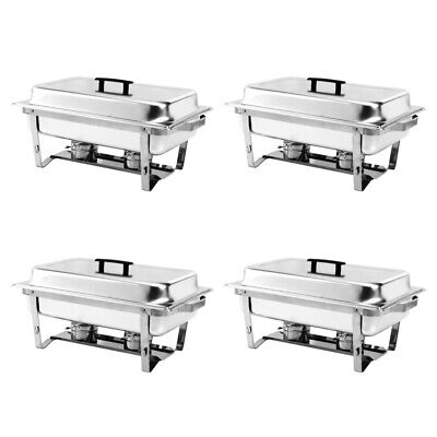 £111.54 • Buy Stainless Steel Chafing 1/2/4 Pack Buffet Catering Dish Food Warmer 2Fuel Tray