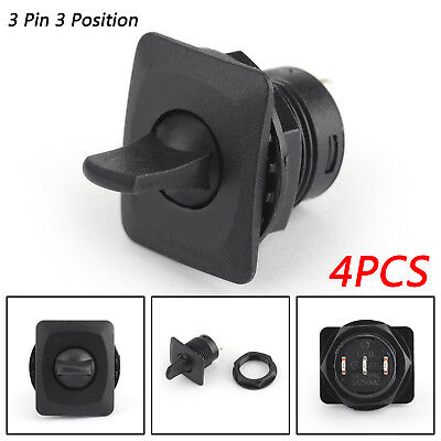 4PCS R13-402I SPDT Toggle Switch 3 Pin 3 Position ON-OFF-ON 6A/125VAC 3A/250 E • 10.29$