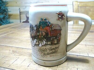 $ CDN7.49 • Buy Budweiser  World Famous Clydesdales  Mug/Stein Lot K27