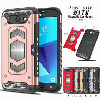 $ CDN2.99 • Buy For Samsung S10 S10e S9 S8 Plus Note 9 Shockproof Magnetic Dual Wallet Card Case