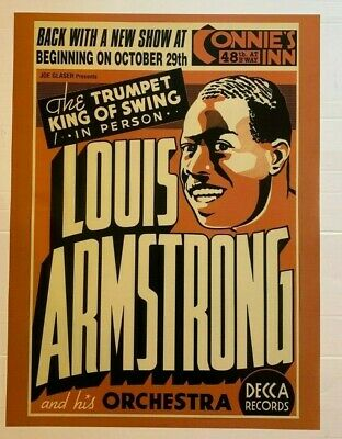 $7.75 • Buy Louis Armstrong CONCERT VINTAGE JAZZ MUSIC  PRINT 18X24 POSTER