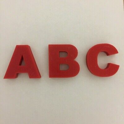 £1.83 • Buy Capital Plastic Arial Font Letters 12mm Thick X 50mm Tall 3D Printed  Any Colour