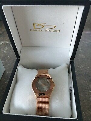Daniel Steiger Rondo Milanese Magnetic Ladies  RoseGold Watch Brand New In Box • 90$