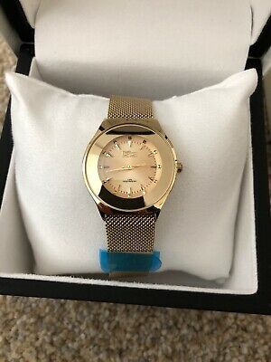 Daniel Steiger Rondo Milanese Magnetic Ladies Gold Watch Brand New • 95$