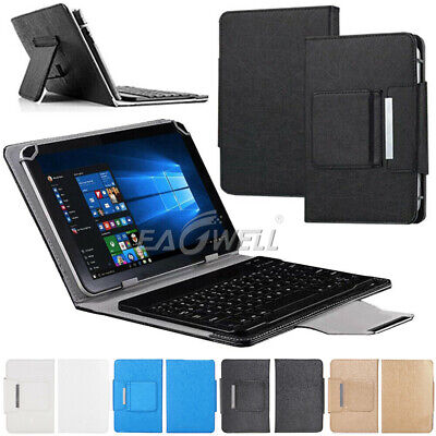For Amazon Kindle Fire 7 HD 8 10 Tablets Leather Case Cover + Bluetooth Keyboard • 15.99£
