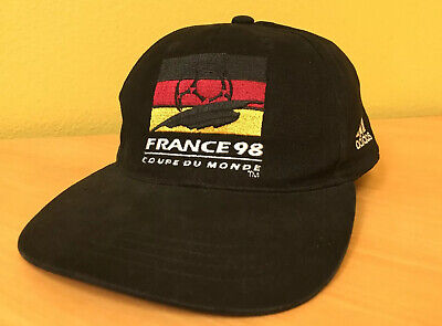Vintage Adidas Germany World Cup Soccer Hat Cap 1998 France Coupe Du Monde • 27.21£
