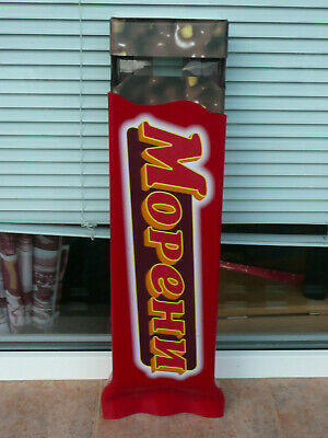 $88 • Buy Moreni Dispenser Crispy Wafer With Chocolate And Peanuts Stand 620mm Used Rare